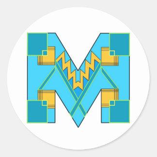 Klistermärke med M-art déco