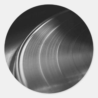 Klistermärke: Vinylrekord och Turntable Runt Klistermärke
