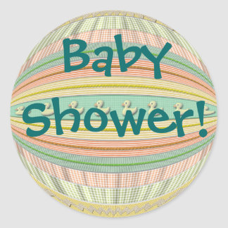Klistermärkear - ankor i en ro - baby shower rund klistermärke