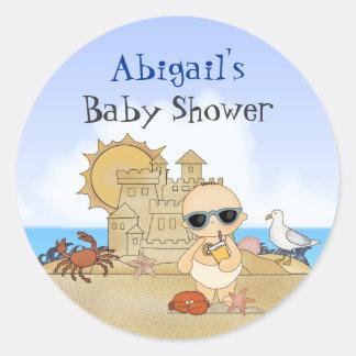 Klistermärkear för baby shower för runda klistermärken