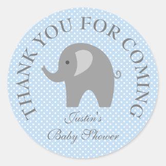 Klistermärkear för baby shower för elefant för runt klistermärke