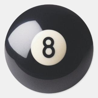 Klistermärkear för biljardSnooker 8-Ball Runt Klistermärke
