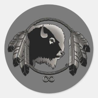 Klistermärkear för buffel för ande för Metis Runt Klistermärke