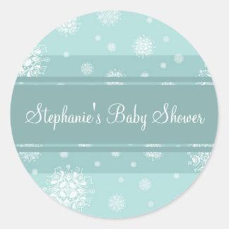 Klistermärkear för favör för baby shower för runda klistermärken