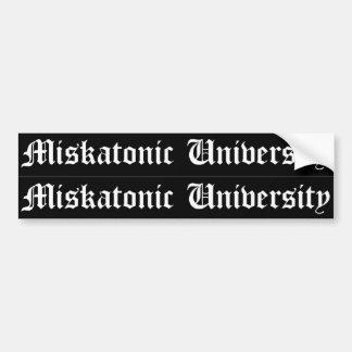 Klistermärkear för fönster för bil för Miskatonic  Bildekal