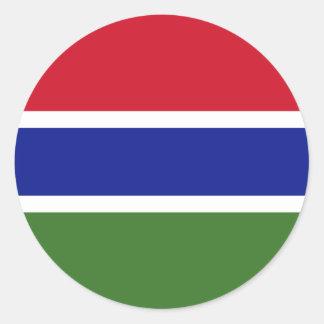 Klistermärkear för Gambia flaggarunda Runt Klistermärke