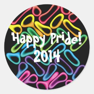 Klistermärkear för gay pride för regnbågegummi runt klistermärke