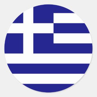 Klistermärkear för Grekland flaggarunda Runt Klistermärke