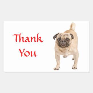 Klistermärkear för hälsning för hund för rektangulärt klistermärke