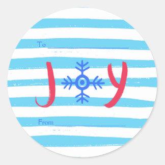 Klistermärkear för helgdag för jul för runt klistermärke