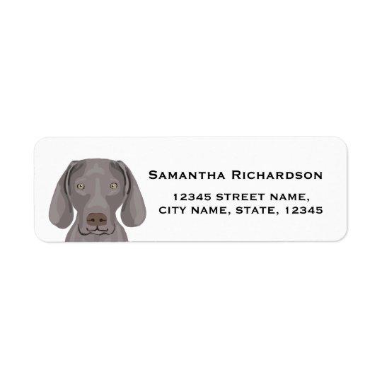 klistermärkear för hund för returadress etikett