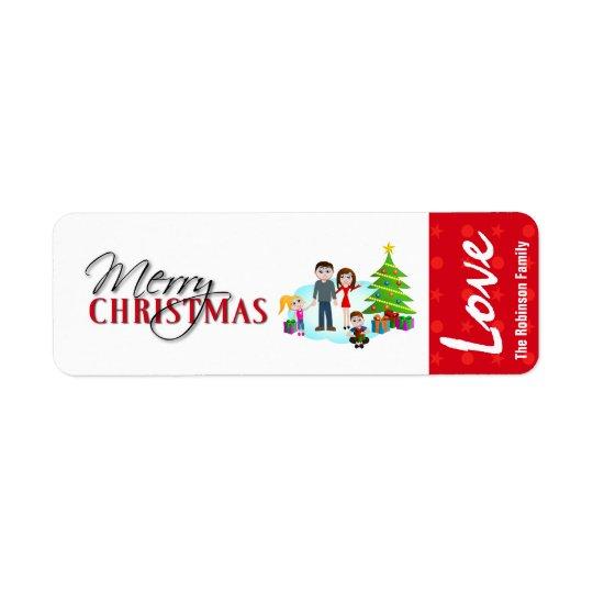 Klistermärkear för julgåvaetikett returadress etikett