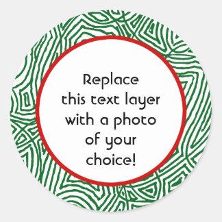 Klistermärkear för julScribbleprints gräns - Runt Klistermärke