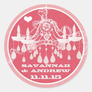 Klistermärkear för ljuskrona för rosa- och runt klistermärke