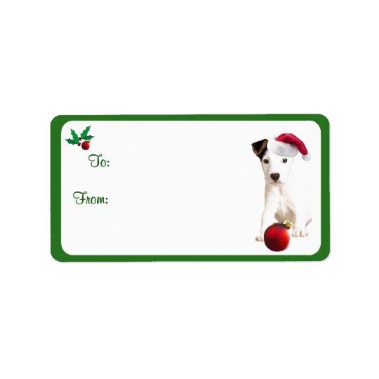 Klistermärkear för märkre för gåva för jackRussell Adressetikett