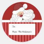 Klistermärkear för märkre för jul för jultomtenrun