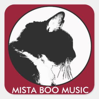 Klistermärkear för MISTA-BUMUSIK Fyrkantigt Klistermärke