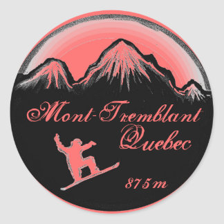 Klistermärkear för Mont Tremblant rosa Runt Klistermärke