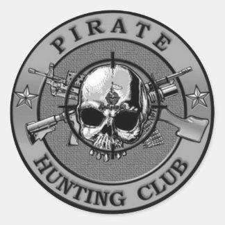 Klistermärkear för piratjaktklubb runt klistermärke