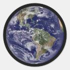 Klistermärkear för planetjordrunda runt klistermärke