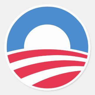 Klistermärkear för presidentBarack Obama logotyp Runt Klistermärke