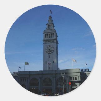 Klistermärkear för San Francisco färjabyggnad Runt Klistermärke
