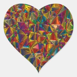 Klistermärkear för Shape för Kaleidoscopemålat Hjärtformat Klistermärke
