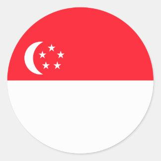 Klistermärkear för Singapore flaggarunda (packen) Runt Klistermärke
