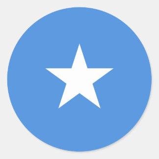 Klistermärkear för Somalia flaggarunda (packen) Runt Klistermärke