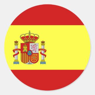 Klistermärkear för spanjorflaggaBandera Española Runt Klistermärke