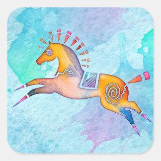 Klistermärkear för Totem för andeponny djura Fyrkantigt Klistermärke