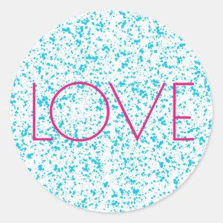 Klistermärkear för tryck för kärlekblått Dalmatian Runt Klistermärke
