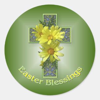 Klistermärkear för välsignelser för påskdaisy arga runt klistermärke