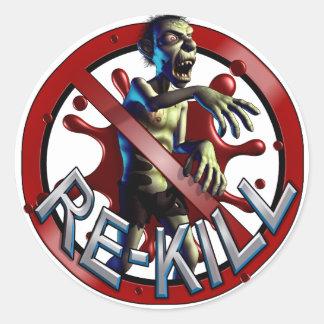 Klistermärkear för ZombieBeträffande-Döda räkning Runt Klistermärke