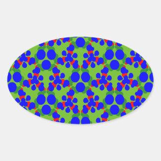 Klistermärkear med vibrerande färger ovalt klistermärke