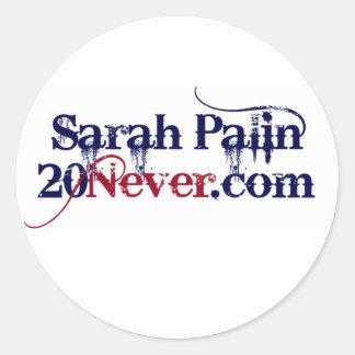Klistermärkear - Sarah Palin 20Never Runt Klistermärke