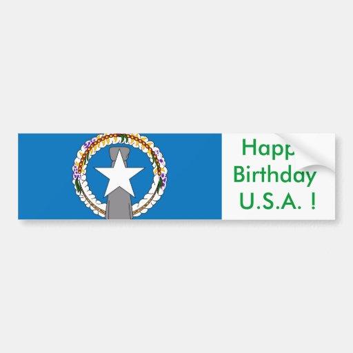 Klistermärkeflagga av Northern Mariana Islands Bildekaler