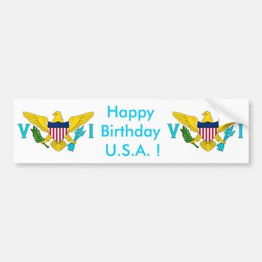 Klistermärkeflagga av Virgin Islands - USA Bildekaler