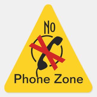 Klistermärken varnar ingen mobil zon begränsar