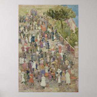 Kliver av Santa Maria Aracoeli, Rome Poster