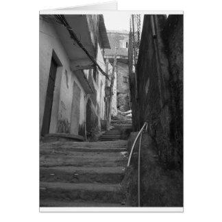 Kliver i den största favelaen i Rio de Janeiro Hälsningskort