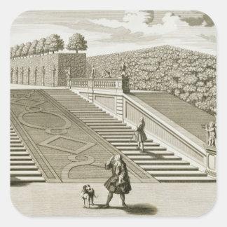 Kliver till den trädgårds- terrassen, fyrkantigt klistermärke