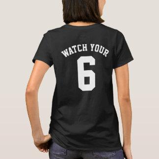 Klocka din sex tillbaka tryckT-tröja Tee Shirt