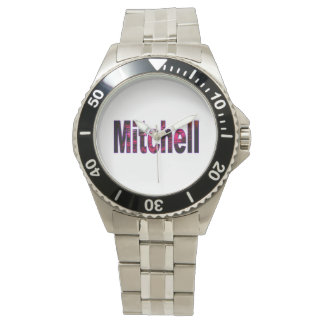Klocka för Mitchell klassikerrostfritt stål
