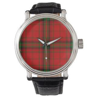 Klocka för vintageMacDougall skotsk Tartan