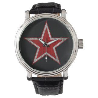 Klocka för vintageRyssland röd stjärna