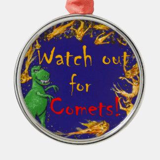 Klocka ut för komet! julgransprydnad metall