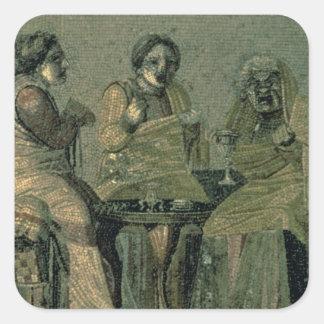 Klok kvinna och henne tålmodig, från villan Cicero Fyrkantiga Klistermärken