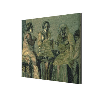 Klok kvinna och henne tålmodig, från villan Cicero Canvastryck