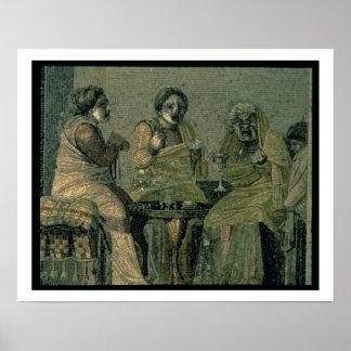 Klok kvinna och henne tålmodig, från villan Cicero Poster